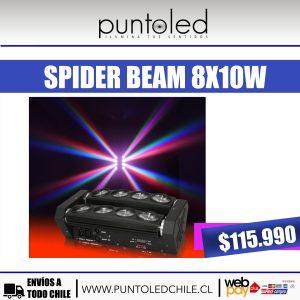 spider beam 8x10w