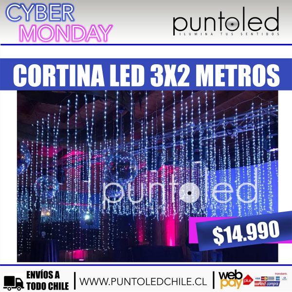 Cortina Led 3x2m- Punto Led Chile - CYBERDAY