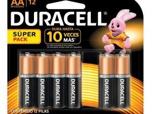 12 pilas duracell