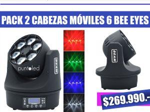 Pack cabeza movil 6 bee eyes