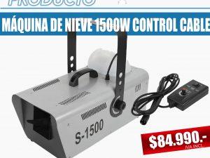 máquina de nieve 1500w con control de cable