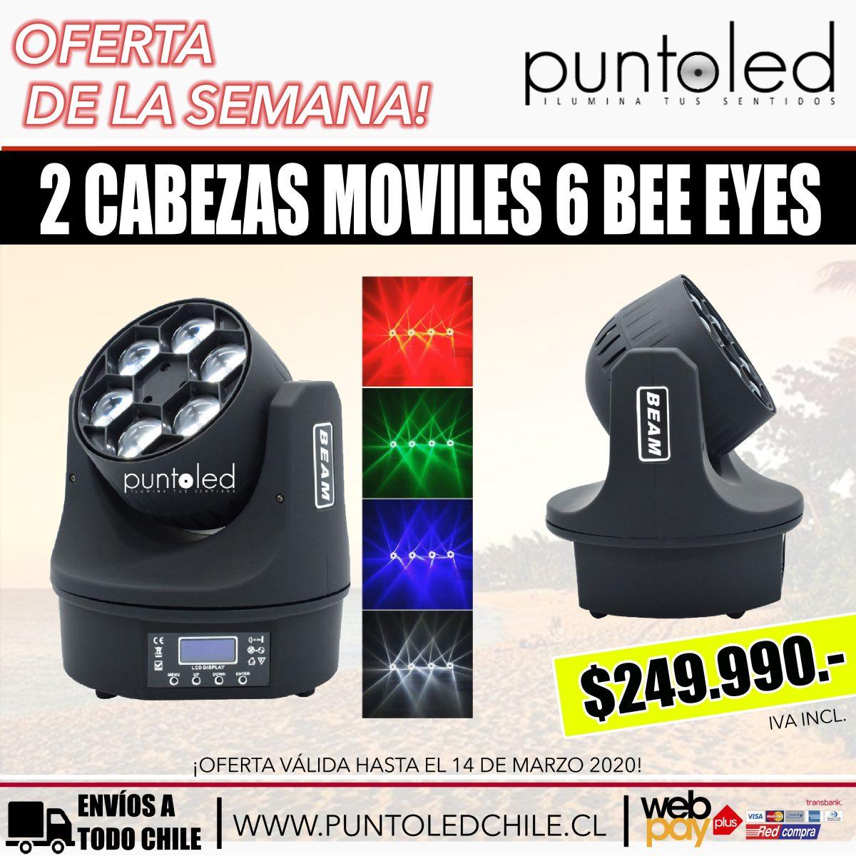 cabeza movil 6 bee eyes