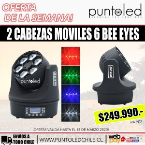 cabeza movil 6 bee eyes