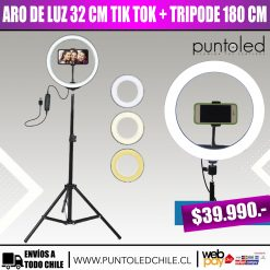 aro de luz 32 cm led tik tok - punto led chile