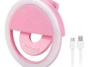 Aro de luz selfie pink